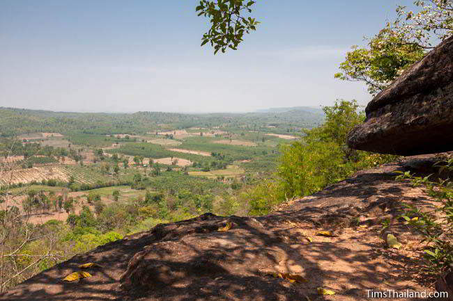 Pha Sadet cliff in Phu Phrabat Historical Park in Udon Thani, Thailand.