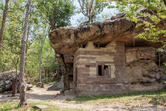 Prince Baros's temple in Phu Phrabat Historical Park in Udon Thani, Thailand.