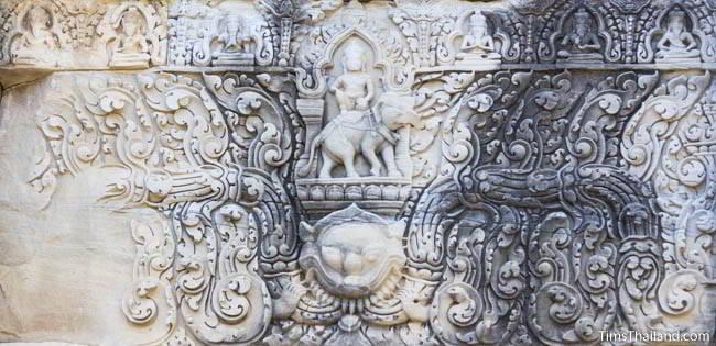 East lintel at Ban Phluang Khmer ruin in Thailand.