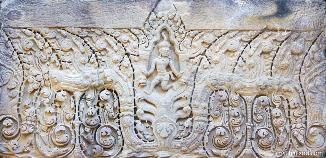 North lintel at Ban Phluang Khmer ruin in Thailand.