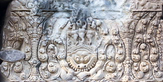 South lintel at Ban Phluang Khmer ruin in Thailand.