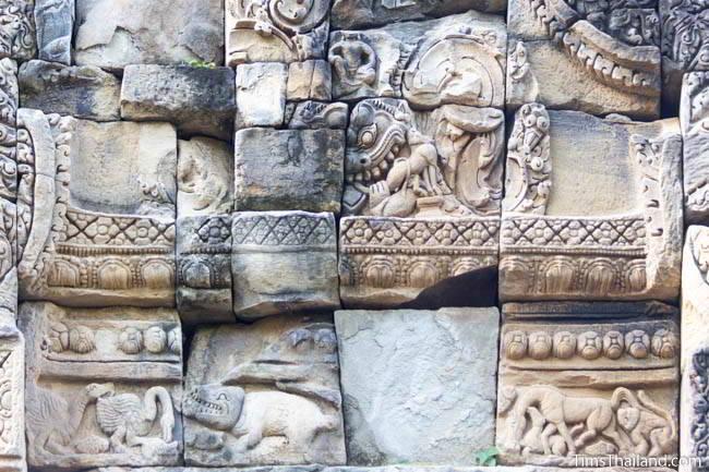 South pediment at Ban Phluang Khmer ruin in Thailand.