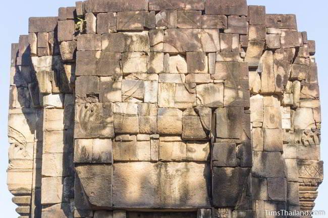 West wall at Ban Phluang Khmer ruin in Thailand.
