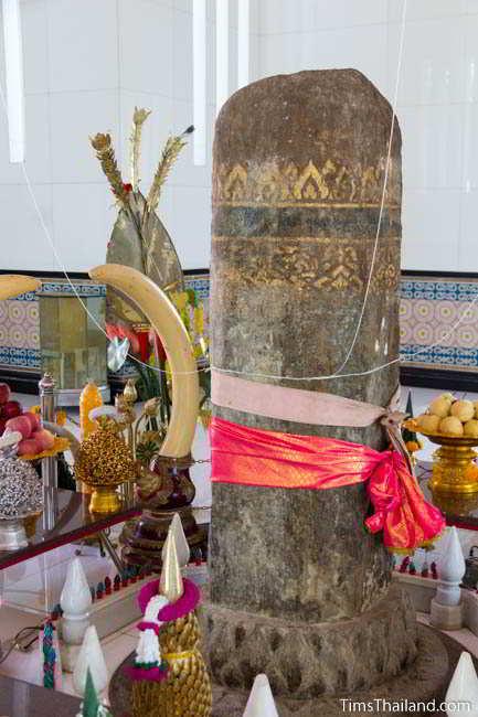City pillar inside current Khon Kaen city pillar shrine