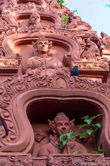 Detail of town of Khon Kaen's Khmer-style Mahesak Shrine