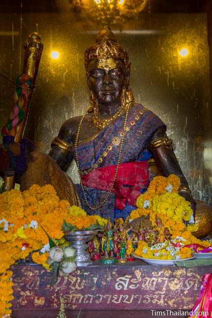 Indra statue inside Khon Kaen's Khmer-style Mahesak Shrine