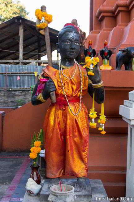 Guman Thong (child spirit) statue at Khon Kaen's Khmer-style Mahesak Shrine