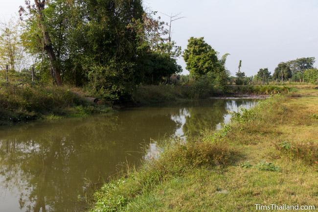 moat around Ku Ban Daeng Khmer ruin
