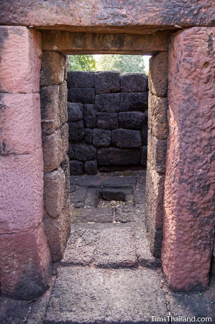 Ku Ban Daeng Khmer ruin interior of north tower
