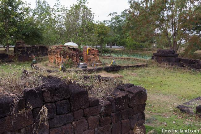 central tower and library of Ku Buamat Khmer ruin