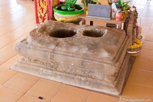 sandstone pedestal of Ku Bueng Jiew Khmer ruin