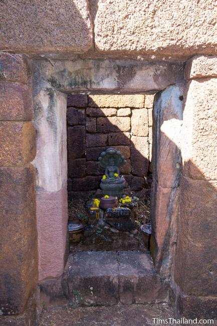 shrine in central sanctuary of Ku Phanna Khmer ruin