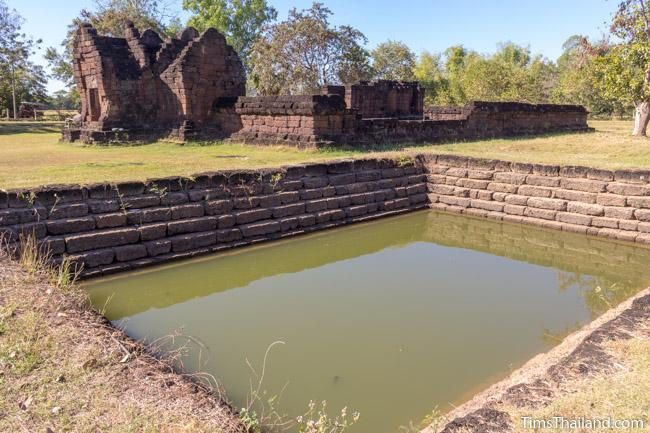 sacred pond at Ku Phanna Khmer ruin