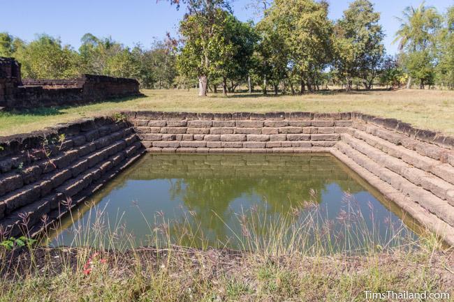 sacred pond at Ku Phanna Khmer ruin
