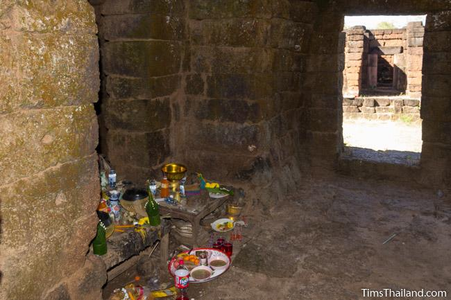 shrine inside east gopura of Ku Phanna Khmer ruin