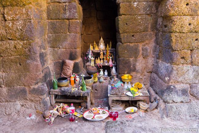 shrine inside east gopura of Ku Phanna Khmer ruin