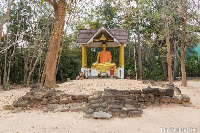 large buddha image at Ku Ban Non Ku khmer ruin