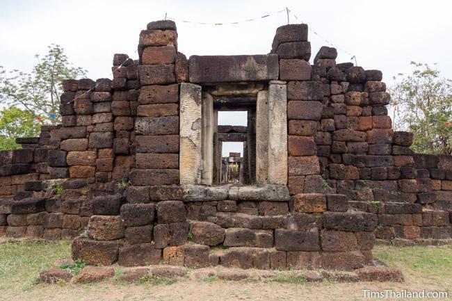 gopura of Ku Kaew Khmer ruin Khon Kaen