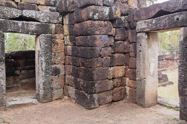 inside the gopura of Ku Kaew Khmer ruin Khon Kaen
