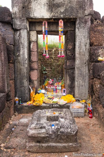 shrine inside sanctuary of Ku Kaew Khmer ruin Khon Kaen