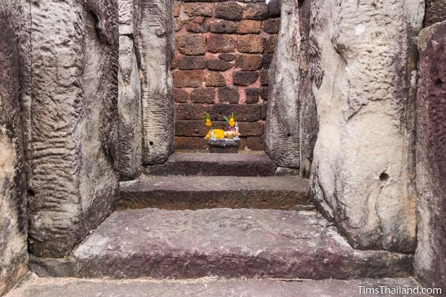 shrine inside library of Ku Kaew Khmer ruin Khon Kaen