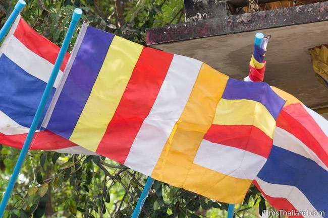 Buddhist Flags In Thailand