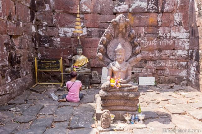 Buddhas in Phra That Phu Phek Khmer ruin