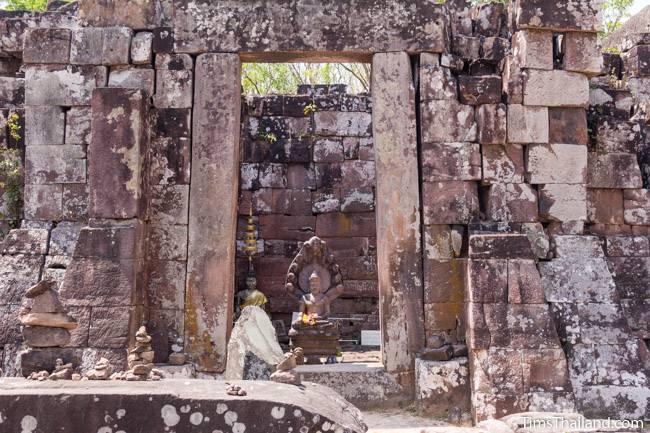 large main door of Phra That Phu Phek Khmer ruin