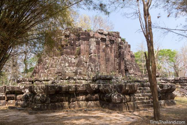 back side of Phra That Phu Phek Khmer ruin