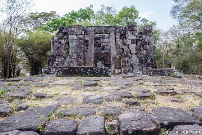 platform in front of Phra That Phu Phek Khmer ruin