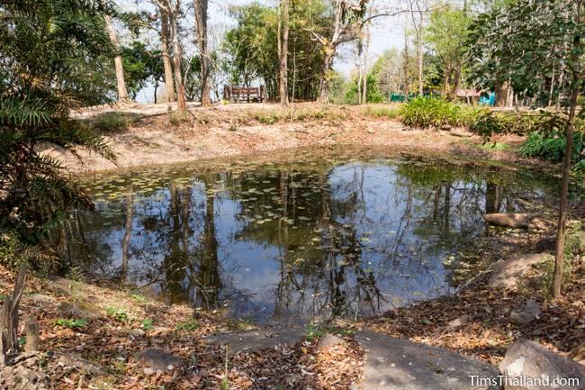 pond at Phra That Phu Phek Khmer ruin