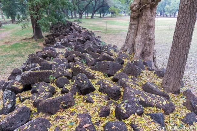 San Ta Pha Daeng Khmer ruin laterite blocks
