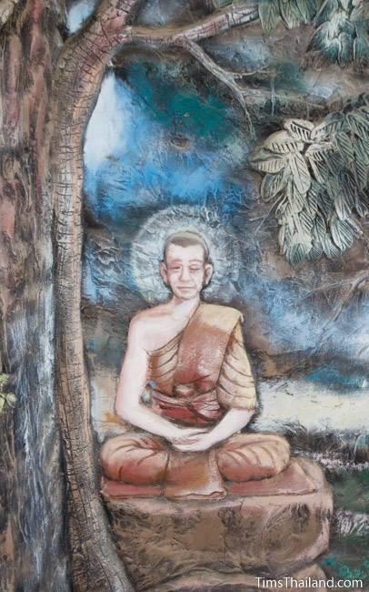 picture of Buddha meditating on Wat Pho Nontan meditation hall