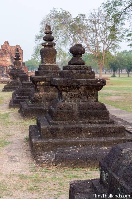 small stupas at Wat Phra Phai Luang Khmer ruin