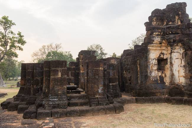 south and central towers at Wat Phra Phai Luang Khmer ruin