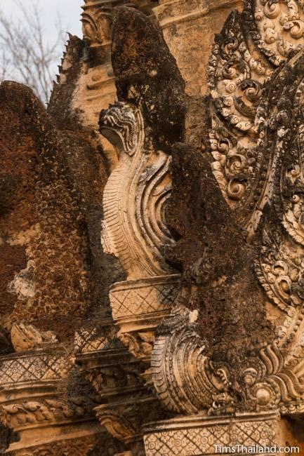 stucco naga at Wat Phra Phai Luang Khmer ruin