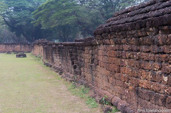 laterite enclosure around Wat Si Sawai Khmer ruin