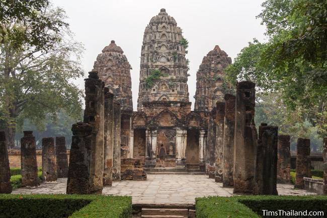 towers and southern wihan at Wat Si Sawai Khmer ruin