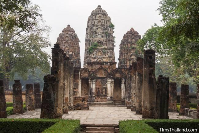 towers and southern wihan at Wat Si Sawai Khmer ruin
