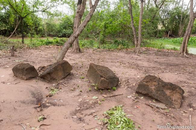 blocks at Non Thaen Phra Khmer ruin