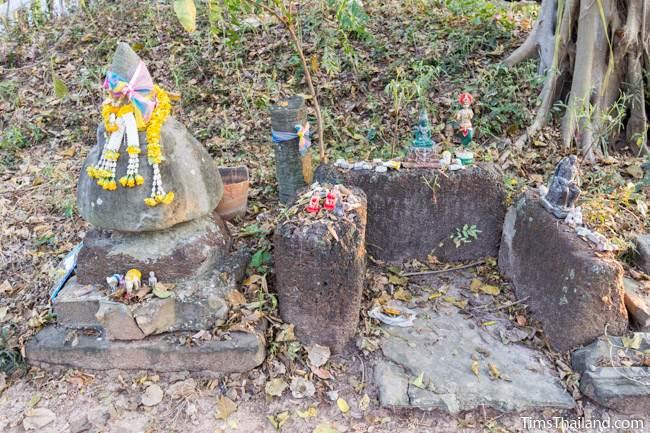 lotus bud top in former shrine at Non Thaen Phra Khmer ruin