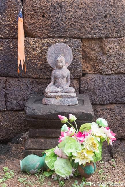 Buddha in library of Prang Ku Ban Nong Faek Khmer ruin