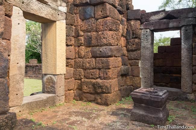 pedestal inside gopura of Prang Ku Ban Nong Faek Khmer ruin