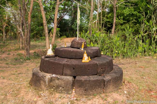 uncarved lotus bud top of Prang Ku Ban Nong Faek Khmer ruin