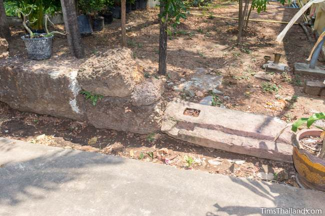 laterite and sandstone blocks at Wat Boon