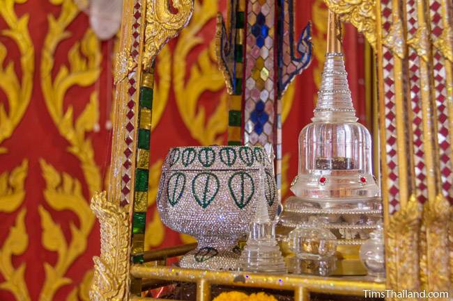 Buddha relics in the stupa at Wat That