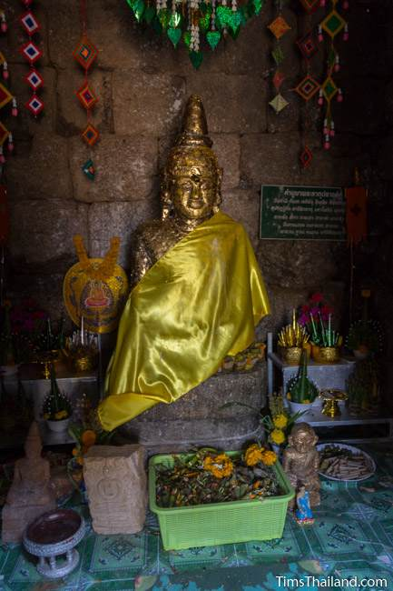 Buddha in sanctuary of Prang Ku Chaiyaphum Khmer ruin