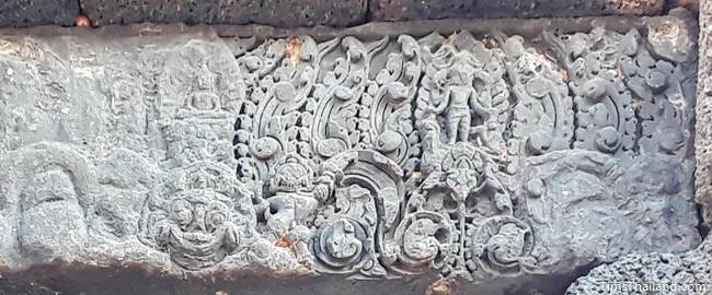 sanctuary north lintel of Prang Ku Chaiyaphum Khmer ruin