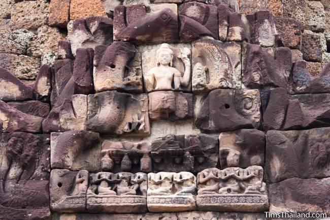 sanctuary pediment of Prang Ku Chaiyaphum Khmer ruin