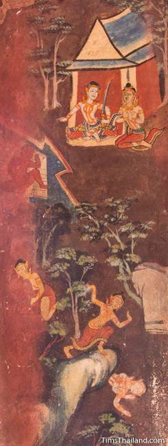 mural painting of scenes from the Culla-Paduma Jataka in ubosot of Wat Thung Si Muang